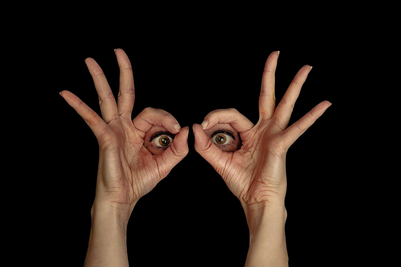 Looking hands from Image by Gerd Altmann from Pixabay
