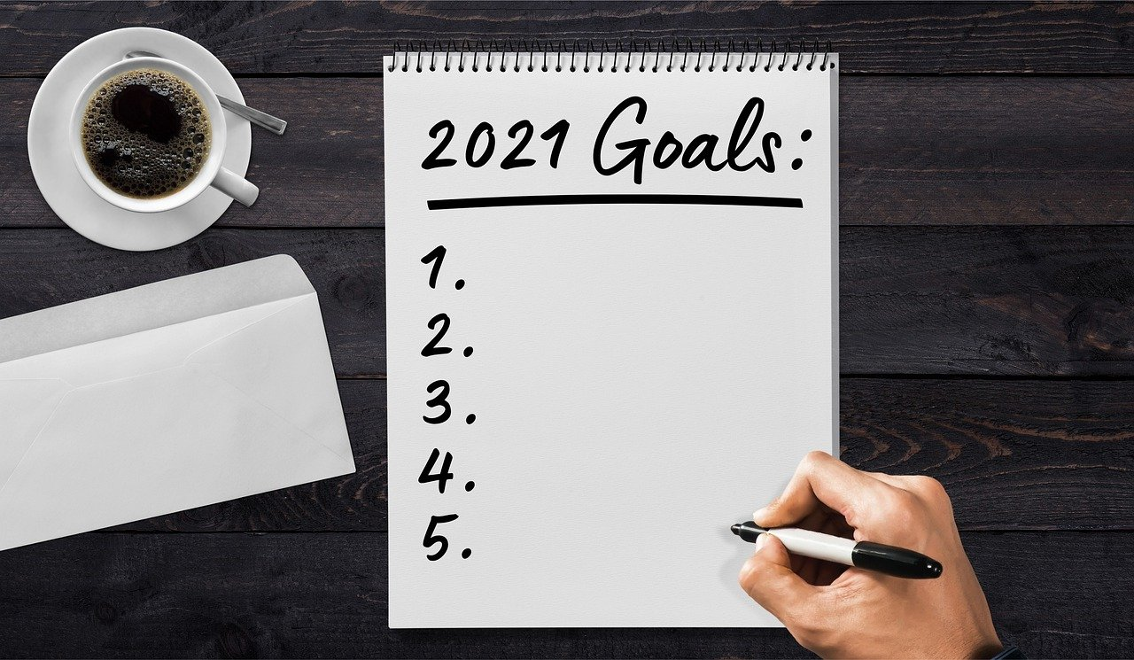 Note Pad for 2021 Goals